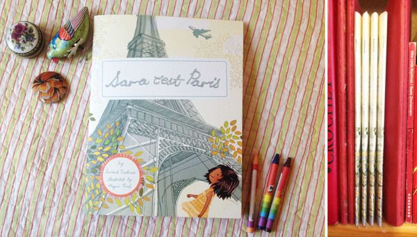 Sara C 'est Paris by DRIEHOEK, Illustrated by Megan Bird. Children's book Illustrations