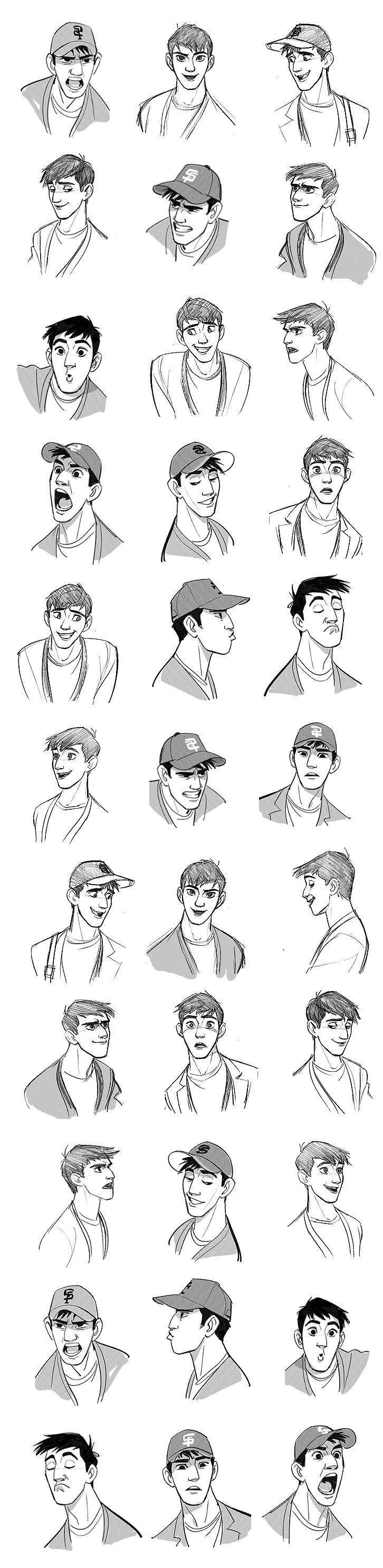 expresiion faces caras expresiones de perfil y mas