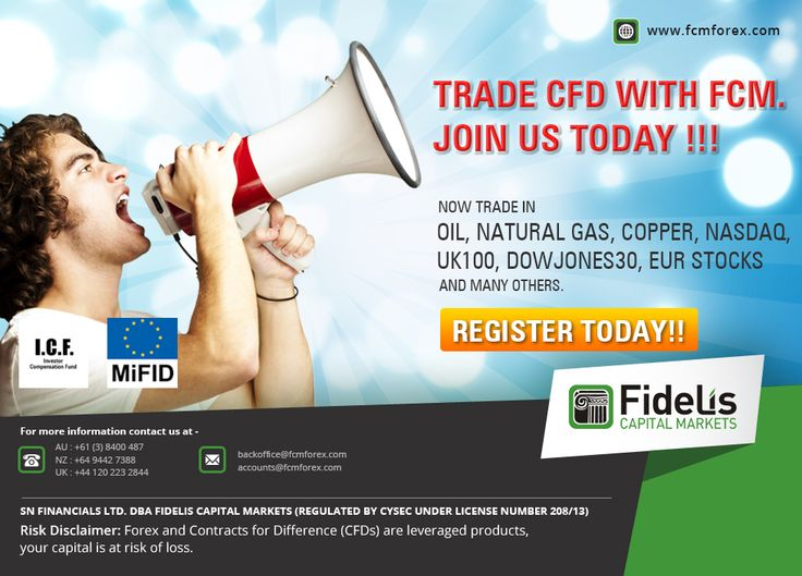 Trade CFD with FCM. Join us today !!!  Now Trade in Oil, Natural Gas, Copper, NASDAQ,  UK100, DowJones30, EUR Stocks and many others.  Register TODAY!!  http://www.fcmforex.com/cfdtradingconditions.aspx  #forextrading #currencytrading #highimpactdata #forexevents #fidelis #USD #Britain #India #Cyprus #Auckland #capital #UK #Brazil #Germany #Argentina #France #Canada #Mumbai #Mexico #Netherlands #Nigeria #Australia #Chile #Singapore #Bangladesh #Delhi #Kolkata #Chennai #Bangalore #USA