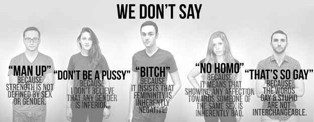 """Two student organizations at Duke are raising awareness about offensive words we use in everyday conversation with their """"You Don't Say"""" cam..."""