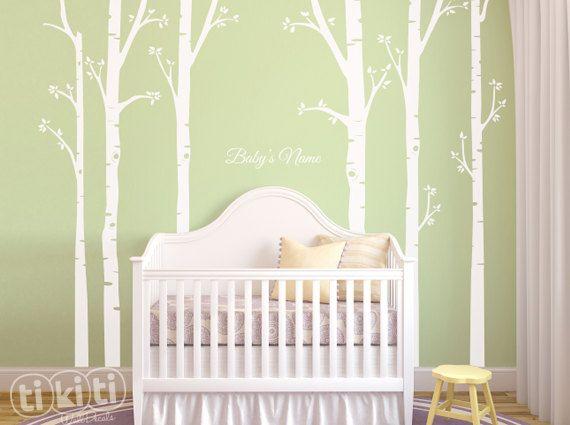 Fresh B ume Wald Wand Aufkleber f r Babyzimmer von TikitiWallDecals