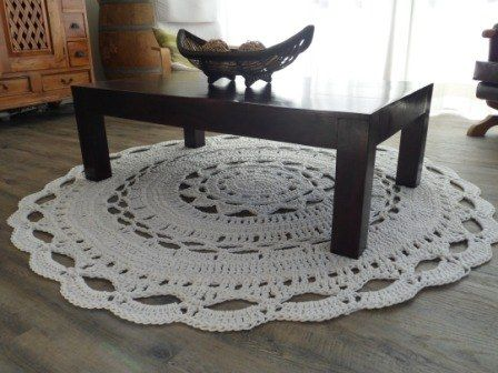 Giant Doily Rug Crochet Pattern. This is going to be my next project