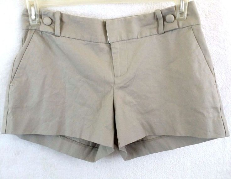 "Banana Republic Shorts 4 Khaki Mini Womens Beige 8"" Rise Mini NWT $39.99 #BananaRepublic #MiniShortShorts"
