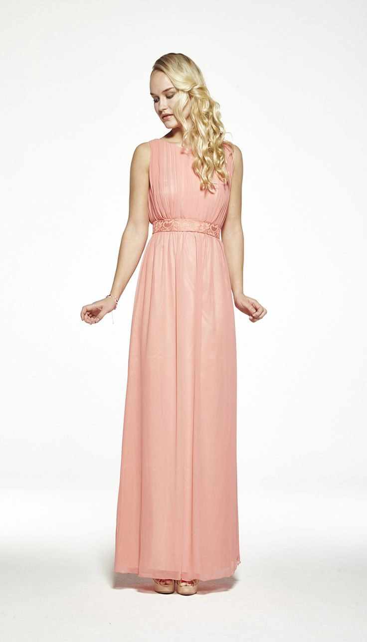 Zetterberg Paula Long Dress Peach Brudt 228 Rnor