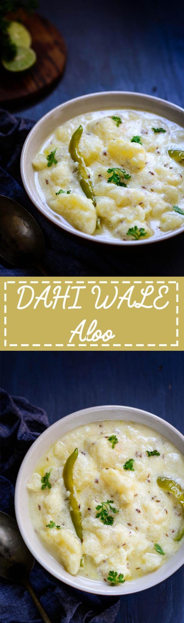 Punjabi Dahi Aloo Recipe I Dahi Wale Aloo Recipe is a simple potato curry made in a yogurt based gravy. This is eaten mostly during pooja days or otherwise with poories and parathas. Indian I Potato I curry I easy I simple I best I Punjabi I Traditional i vrat I fasting I via @WhiskAffair