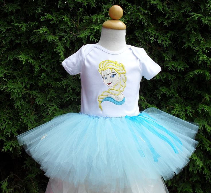 Elsa Inspired Embroidered Tee and Tutu Set perfect for Birthday, Halloween, Princess party, any time is good to be a princess by AntoinetteExclusives on Etsy