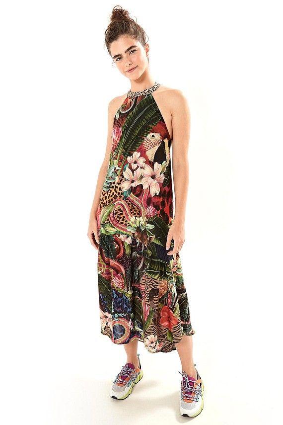 47c533178 vestido longo bicho hey | Moda em 2019 | Summer dresses, Dresses e ...