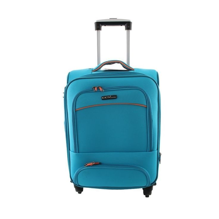 ÇÇS 408 Büyük Boy Kumaş Valiz Mavi |
