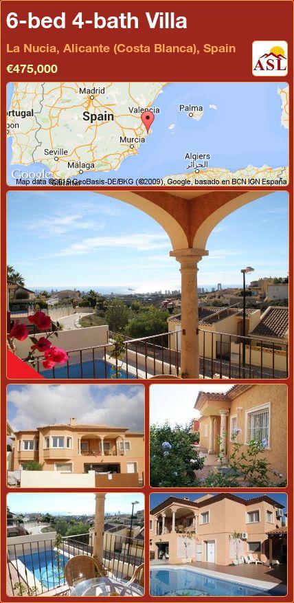 6-bed 4-bath Villa in La Nucia, Alicante (Costa Blanca), Spain ►€475,000 #PropertyForSaleInSpain