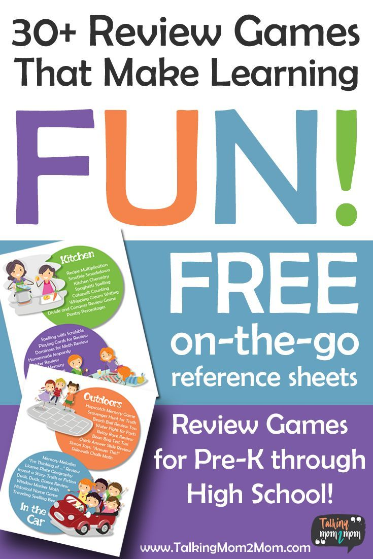 Review games are a fun way to make learning energizing print a free list