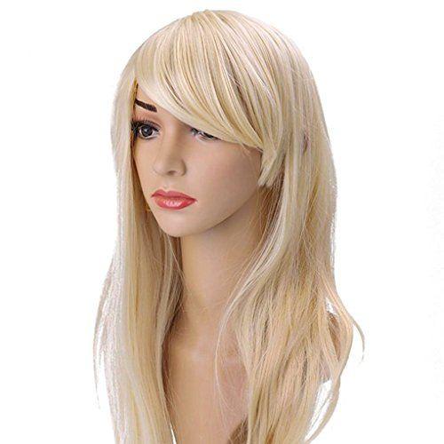 70cm275 longue boucle perruque colore cheveux perruque cosplay blonde materiel - Perruque Colore