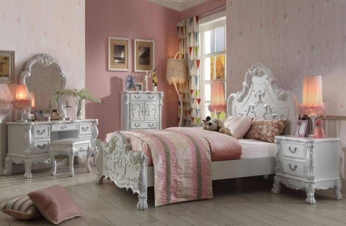 Soflex Classic Lecce Kids Full Bedroom Set 3pcs Antique White Ornate Scrolled Traditional Soflex Lecce Kids F Set 3 Buy Online Bedroom Set Cheap Living Room Furniture Bedroom Furniture Sets