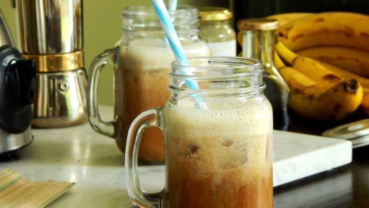 Café Frío con Banana - #LaNOReceta - CUKit! Detox, Mason Jars, Mugs, Cooking, Tableware, Kitchen, Youtube, Banana, Slushies