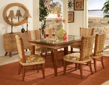 Rattan and Wicker Dining Sets tropical dining sets