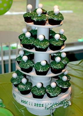 golf themed birthday party food ideas easy cupcakes  For Procella: http://www.procellaumbrella.com/