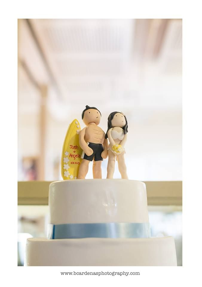 Amazing cake toppers by Alicia Lee - Angela & Josh Wedding - Bianca Cardenas Photography