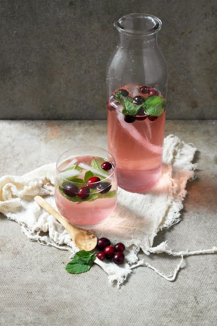 Cranberry Mojito - Rum, Lime Wedge, Cranberries, Mint, Soda, Cranberry Juice, Sprite.