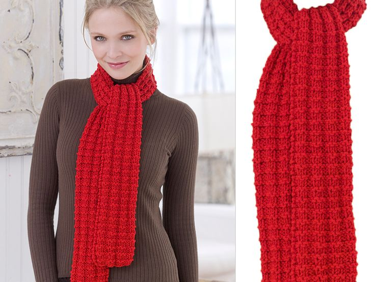 Easy DIY knit scarf pattern