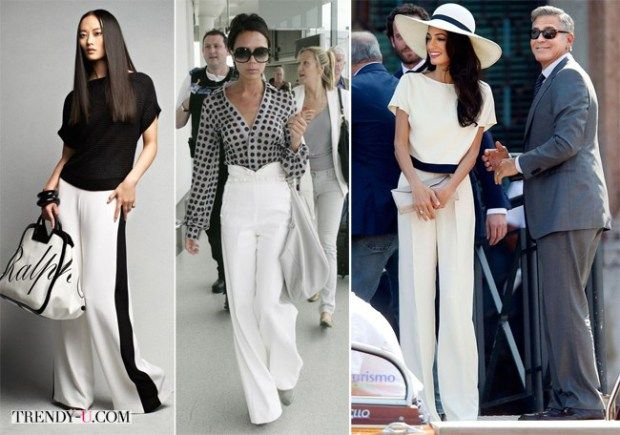 Белые брюки на звездах и красавицах