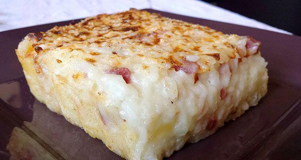 Ho imparato la ricetta dello sformato di riso con fontina valdostana e prosciutto cotto da mia cognata e siccome è buonissima, voglio subito riproporvela!