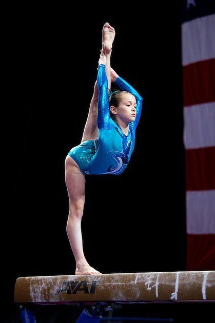 Norah Flatley (United States) on balance beam at the 2013 P&G Championships