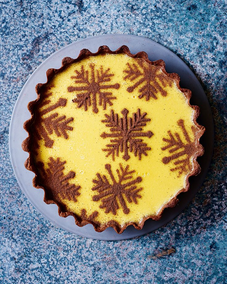 Boozy custard in a spiced gingerbread pastry is the adults-only dessert your Christmas dinner party needs.