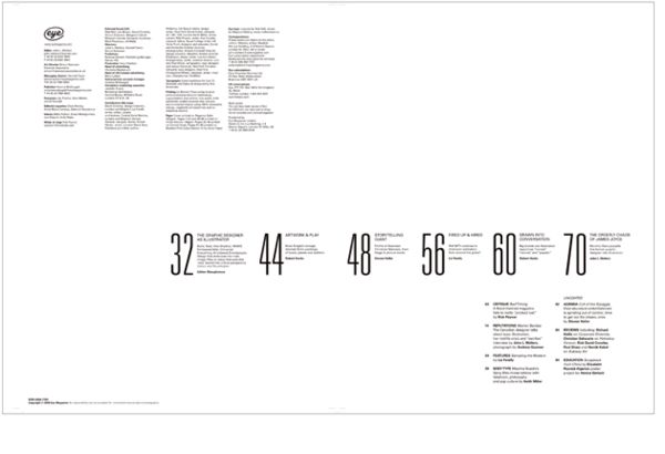 Graphic design table of contents for Table graphic design