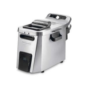 Friteuse - Capacité frites : 1,6 kg - Capacité huile : 5L - Système de vidange breveté - Cuve inox amovible - Thermostat réglable - Filtre à huile amovible