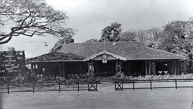 Old pavilion of the Madras Cricket Club at Chepauk