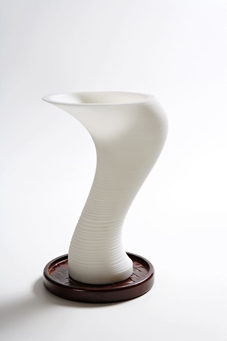 Twister: 3D printed glass.Join the 3D Printing Conversation: http://www.fuelyourproductdesign.com/