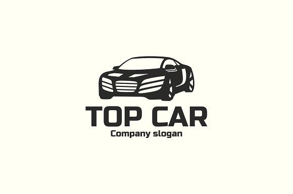 Car Logo Template by BekBlack on @creativemarket