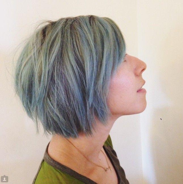moderne korte warrige schokkerig bob kapsel haarkleur