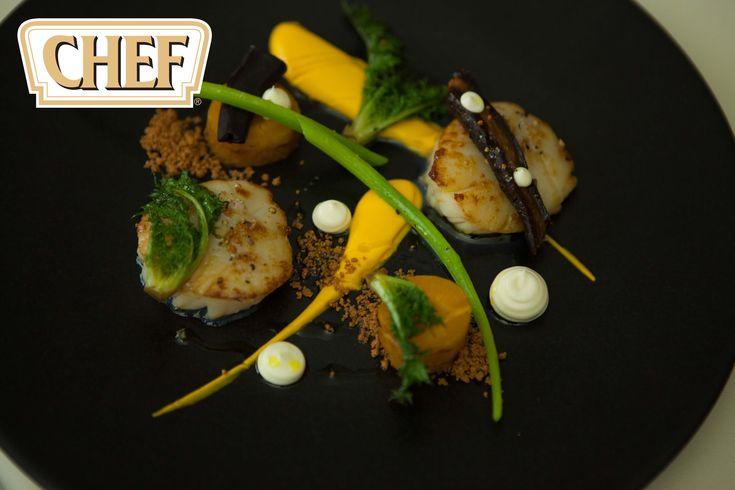 2 Michelin star chef David Everitt-Matthias creates a recipe of hand div...