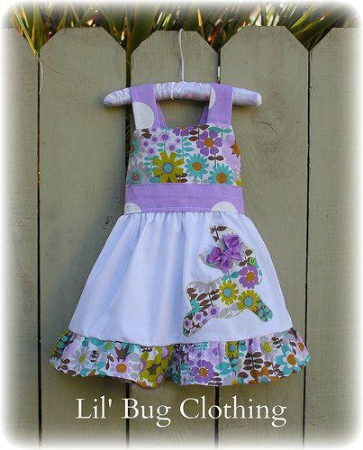 Custom Boutique Clothing  Easter Bunny Lavender Floral Jumper  Dress Girl 12m 18m 2T 3T 4T 5T 6 7 8. $39.99, via Etsy.