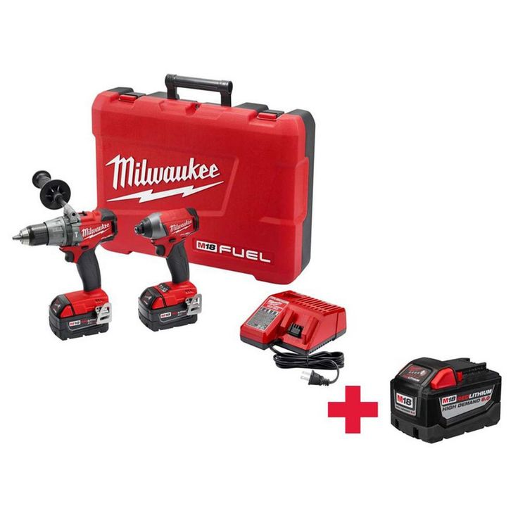 Milwaukee M18 18-Volts Cordless Brushless Hammer Drill-Impact Driver Combo Kit