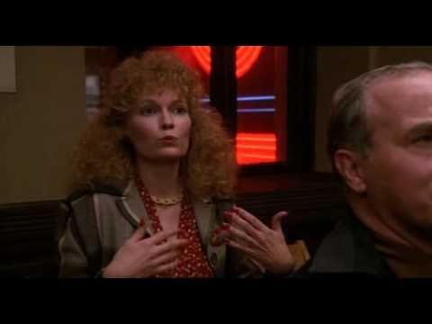 hAWk.  I heeuh the cannons rAW...rAW.  Mia Farrow in Woody Allen's Radio Days.