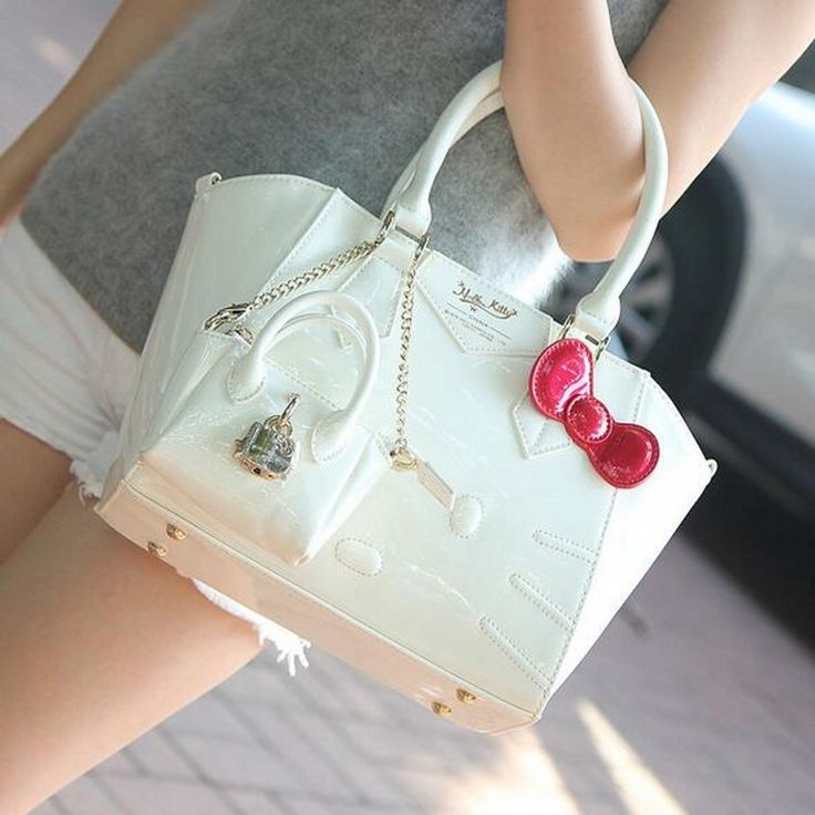 Berühmte marke designer frauen weibliche leder hallo kitty handtasche schultertasche sac ein haupt femme de marque bolsas femininas