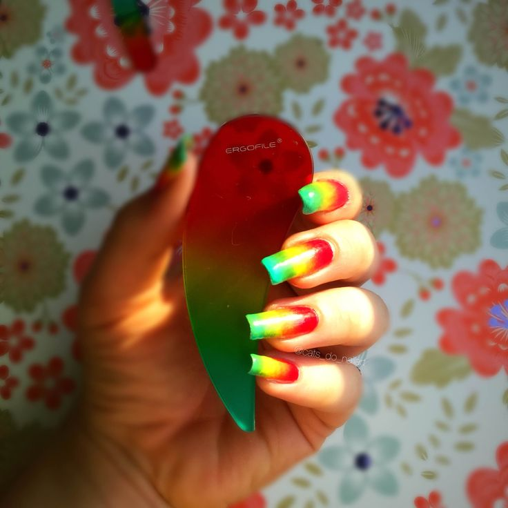 Bona Fide Beauty Red Yellow Green 6 Piece Gl Nail File Kit Includes