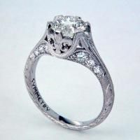 This jeweler is actually in New Orleans. Love his use of the fleur de lis in an engagement ring.