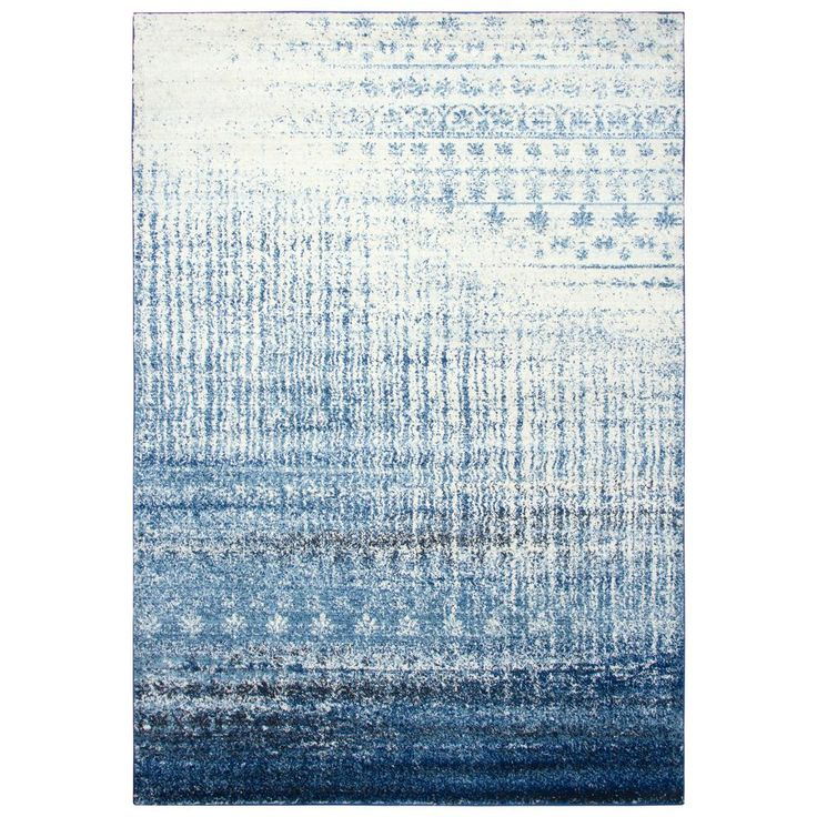 Rizzy Home Encore Blue Ivory 5 Ft 2 In X 7 Ft 3 In Rectangle
