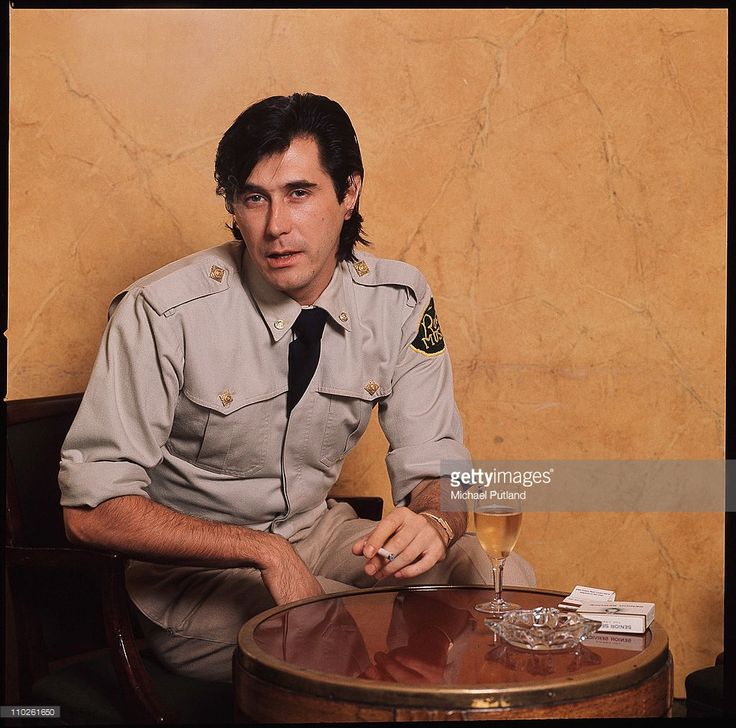 <a gi-track='captionPersonalityLinkClicked' href=/galleries/search?phrase=Bryan+Ferry&family=editorial&specificpeople=206306 ng-click='$event.stopPropagation()'>Bryan Ferry</a> of Roxy Music, portrait, wearing military style uniform, at the Montcalm Hotel, London, 31st October 1975.
