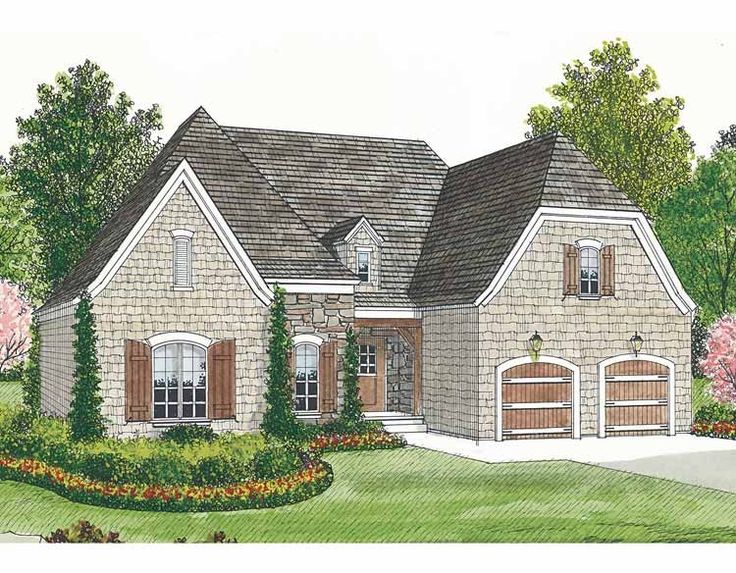 French Country House Plan with 1400 Square Feet and 3 Bedrooms(s) from Dream Home Source | House Plan Code DHSW54285