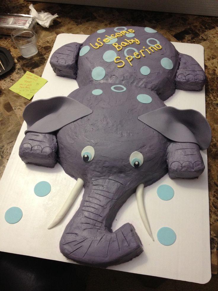 Buttercream Elephant Cake Cake Decorating Pinterest