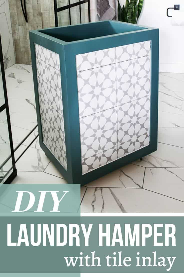 Diy Hamper With Tile Inlay Step By Step Tutorial Making