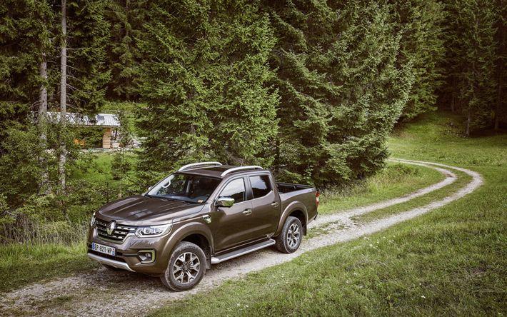 Descargar fondos de pantalla Renault Alaska, 2017, SUV, autos nuevos, bosque, Renault