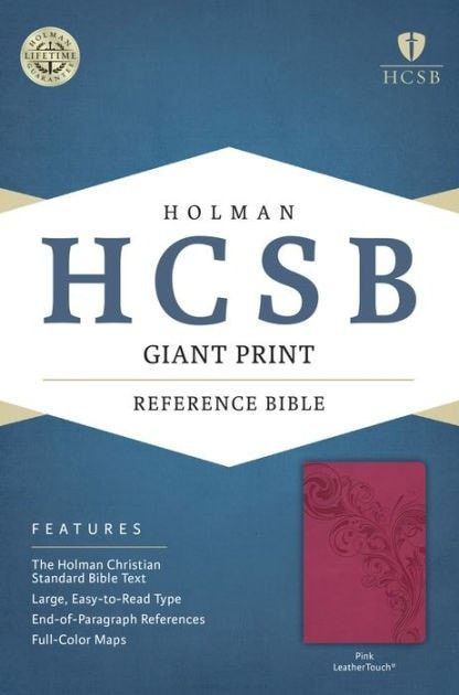 HCSB Giant Print Reference Bible-Pink LeatherTouch
