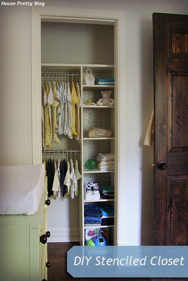 House Pretty Blog: Summer Pinterest Challenge: DIY stenciled closet