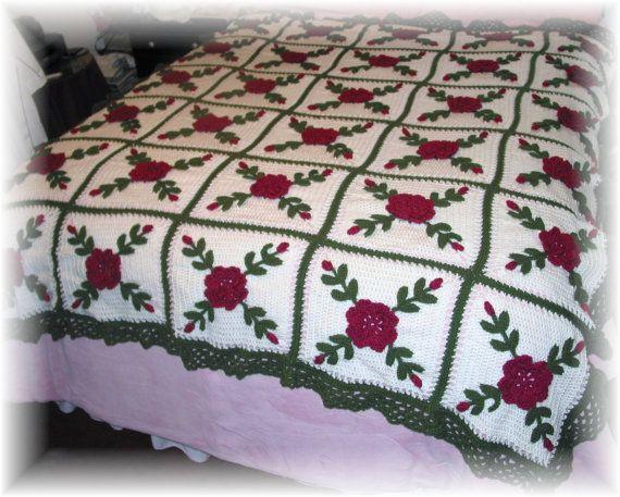 Rasberry rosas manta afgana tiro  hecho fresco después de la