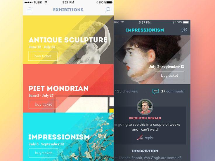 Art Gallery App byLudmila Shevchenko—The Best iPhone Device Mockups → store.ramotion.com