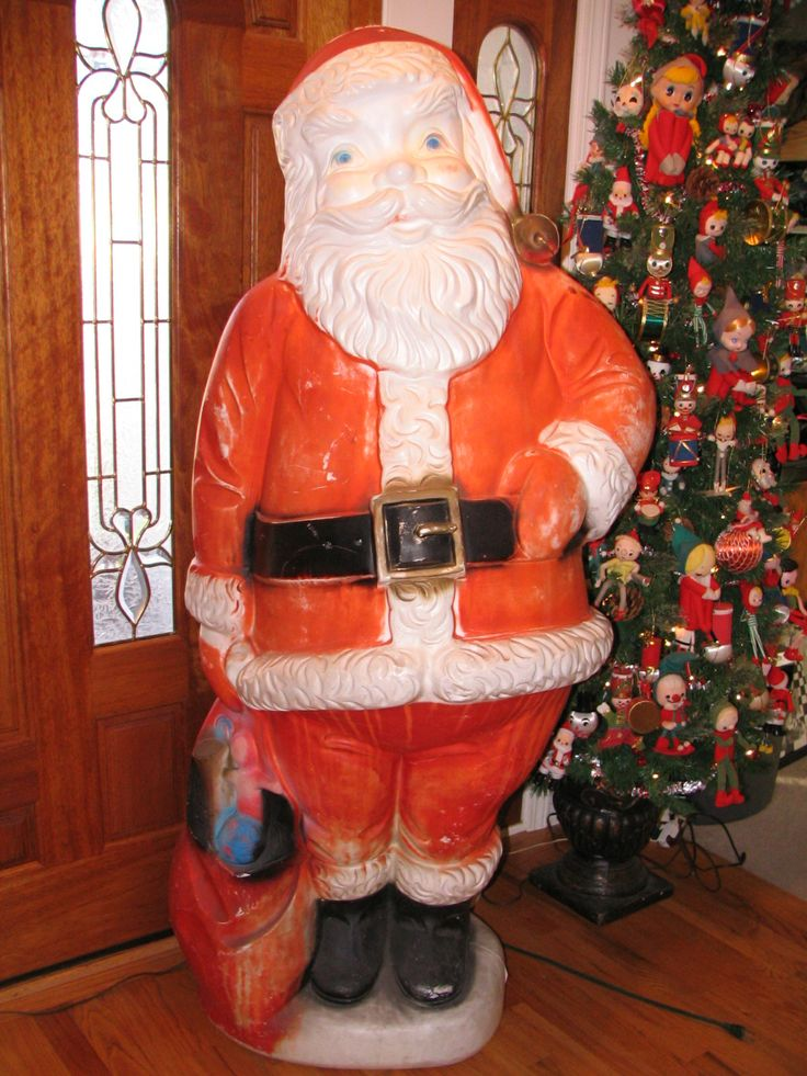 My Santa blow mold which is almost 5 ft tall | vintage ...